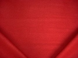 236RT5 - Rose Red / Carnelian Jumper Herringbone Drapery Upholstery Fabric - $4.98