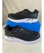 Men's Sz 12.5 Hoka One One Clifton 6 Black/White Running Shoes 1102872 - $158.35
