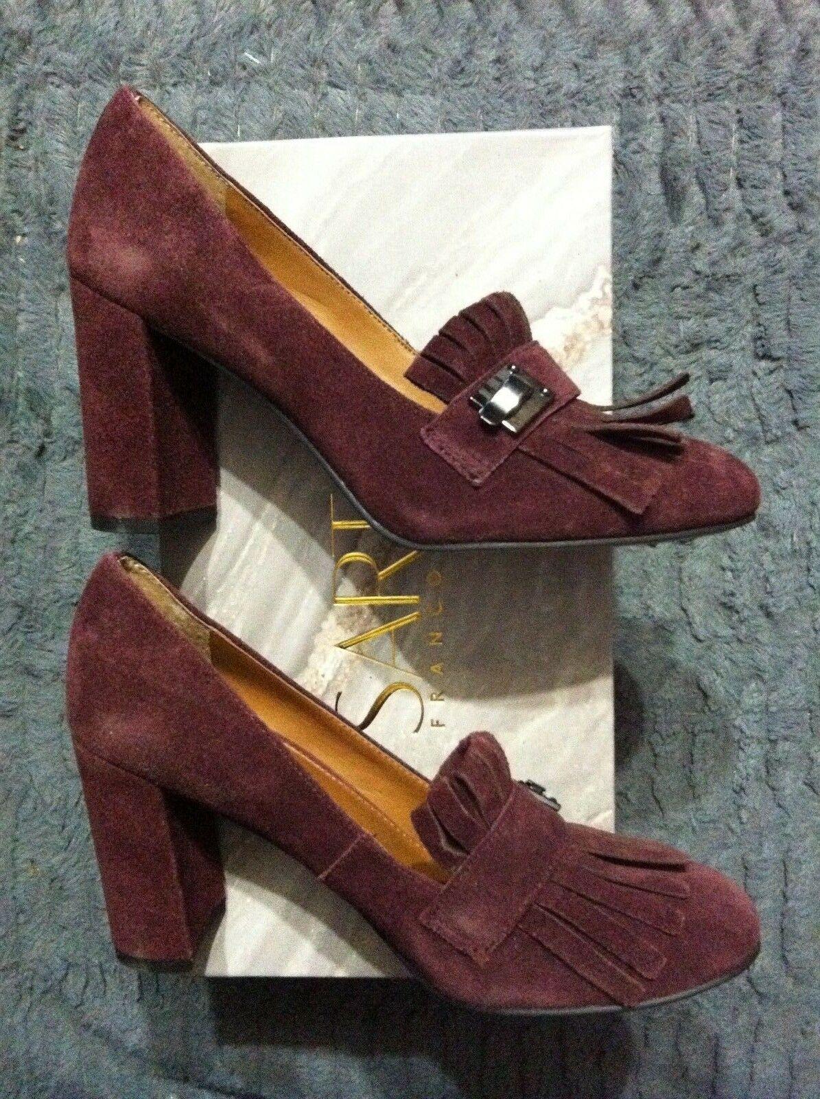 Franco Sarto Mujer Nuevo Piel Borgoña / ante Superior Vestido Zapatos Talla: 6M