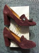 Franco Sarto Mujer Nuevo Piel Borgoña / ante Superior Vestido Zapatos Ta... - $72.82