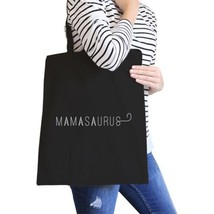 Mamasaurus Black Canvas Shoulder Bag Easy Portable Bag For Boys Mom - $15.99