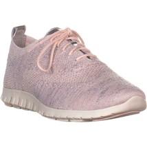 Cole Haan Zergrand Stitchlite Oxford Sneakers, Peach Blush, 9.5 US - $51.83