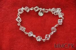 925 Silver Fashion Cube Linked In Bracelet Celebrity Jewelry Charm Bracelet - $16.95