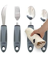 BUNMO Adaptive Utensils for Elderly/Arthritis/Weak Hand Grip & Handicapp... - $36.64
