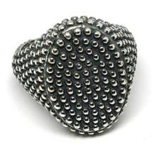 Men's Ring Silver 925, Burnished and Speckled, Oval, Size Adjustable image 2