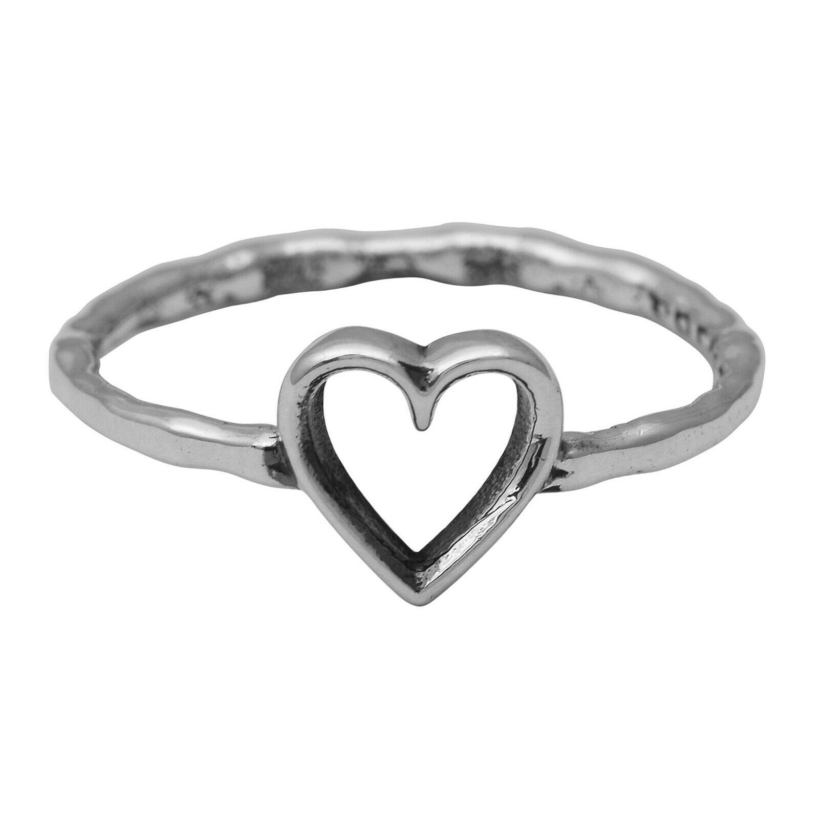 925 Sterling Silver Unique Combination Heart,Lifeline-Pulse,Nature,Eternity Ring