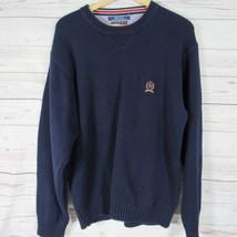 Tommy Hilfiger Pullover Herren Groß L Marineblau Löwe Wappen Schwerer St... - $24.51