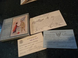 World War One , WW1 Induction Cards & American Red Cross Book for Soldiers  - $40.00