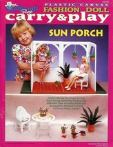 Sun Porch Carry & Play for Barbie Doll Plastic Canvas PATTERN BOOKLET - $8.07