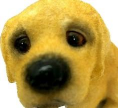 "Vintage Medium 6.5"" Labrador Puppy Dog Velvet Flocked Ceramic Figurine  - $18.99"
