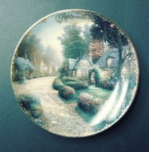 """Limited Edition Collectors Plate By Thomas Kinkade """"September-Cobbleston... - $19.75"""
