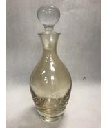 Vintage glass KRONOS Poland  Wine milk decanter jug bottle stopper marke... - $46.53