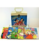 Walt Disney Mickey Mouse Disco Record Tote With Five Books And Records  - $59.39