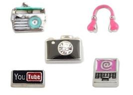 Retro Radio Camera Headphones YouTube Computer Floating Charms for Memor... - $1.99+