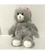 "Build a Bear Kitty Cat Plush 16"" Gray Smiling Eyelashes Girl Pink Ears 2... - $11.30"