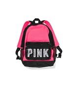 Victoria's Secret Pink Campus Sequins Pink/black Backpack - $275.00