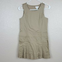 The Children's Place Girl's Uniform Sleeveless Dress Size 12 Beige Stret... - $15.83
