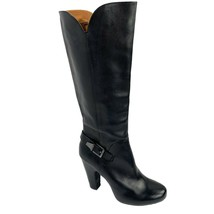 SOFFT 'Felicia' Black Leather Zip Tall Knee High Boots Size 9.5 - $69.29