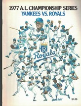 1977 AL Championship Series Program NEW YORK YANKEES at Kansas City Royals - $15.37