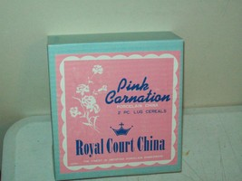 1950's Japan Royal Court China Pink Carnation NEW OLD STOCK 2 PC Lug Cer... - $19.80