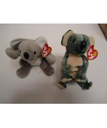 Ty Beanie Baby Koalas with Tags Mel 1996 and Eucalyptus 1999 Lot of 2 - $14.84
