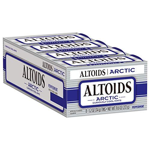 ALTOIDS Arctic Peppermint Mints, 1.2-Ounce Tin Pack of 8
