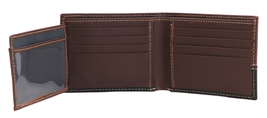 Timberland Men's Genuine Two Tone Leather Credit Card Billfold Commuter Wallet image 5