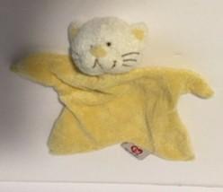 Ty Baby Yellow Security Blanket Vgc Cute Rare Plush Kitty Kitten Cat - $32.07