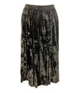 Avenue Sz 14-16 Black Crushed Velvet Midi Rayon Sweep Cruise Gothic Wome... - $26.60