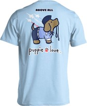 Puppie Love Rescue Dog Adult Unisex Short Sleeve Cotton Tee,Air Force Pup