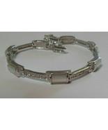 Lia Sophia Silver-tone Mother-of-Pearl Tennis Bracelet - $24.26