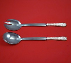Repousse by Towle Sterling Silver Salad Serving Set Modern Custom Made 1... - $149.00