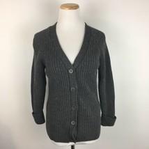 Talbots Women's Gray open Front Merino Wool Cardigan Sweater SIze Medium - $21.77