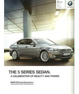 2012 BMW 5-SERIES Sedan sales brochure catalog US 12 528i 535i 550i xDrive - $9.00