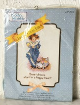 Vintage Holly Hobbie Sweet Dreams Counted Cross Stitch Kit Distlefink - $28.45