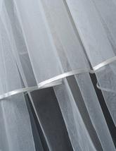 Cathedral Length Wedding Bridal Veil Full Edge Tulle White Veils Wedding Photo  image 6