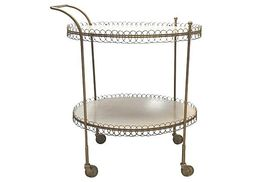Mid-Century Oval Bar Cart  - $2,295.00
