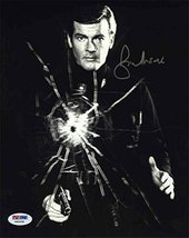 Roger Moore James Bond Signed 8x10 Photo Certified Authentic PSA/DNA COA - $296.99