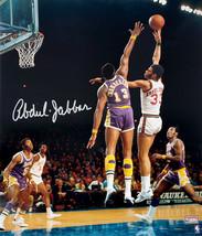 Kareem Abdul-Jabbar Signed Milwaukee Bucks Sky Hook Over Wilt Chamberlai... - £156.63 GBP