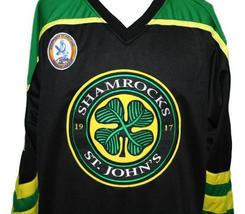 Any Name Number St John's Shamrocks Retro Hockey Jersey Black Rhea Any Size image 4