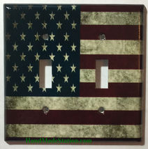 US USA United State Flag Light Switch Power Outlet Wall Cover Plate Home decor image 7