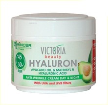 Victoria Beauty Hyaluronic Acid Avocado Oil Anti-wrinkle Day Night & Cream 50 ml - $7.70