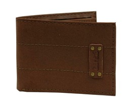 NEW LEVI'S MEN'S PREMIUM COATED LEATHER BILLFOLD CREDIT CARD WALLET TAN 31LV2216 image 2
