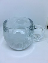Nestle Cafe Etched World Mug Used Glass Mug Preowned Condition - $5.89