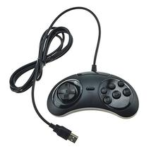 Retro PC & Mac wired USB controller classic Sega Mega Drive styled gamep... - $8.48