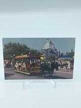 Postcard Disneyland Horse Drawn Streetcar Main Street USA Matterhorn A-3 - $5.39