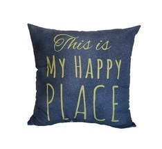 """This is My Happy Place"" Throw Pillow - $6.99"
