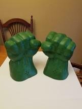 Original 2003 Marvel Hulk Smash 'N Bash Electronic Foam Hands Sound Work... - $67.23