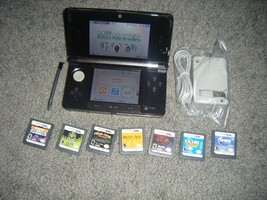 Nintendo 3DS COSMO BLACK Handheld System Console with Lot of 7 Games - $92.52