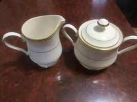 Gorham Elegance Gold Sugar Bowl And Creamer - $29.65